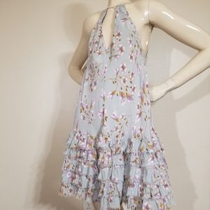 Free People Light Green Floral Beautiful Dress.